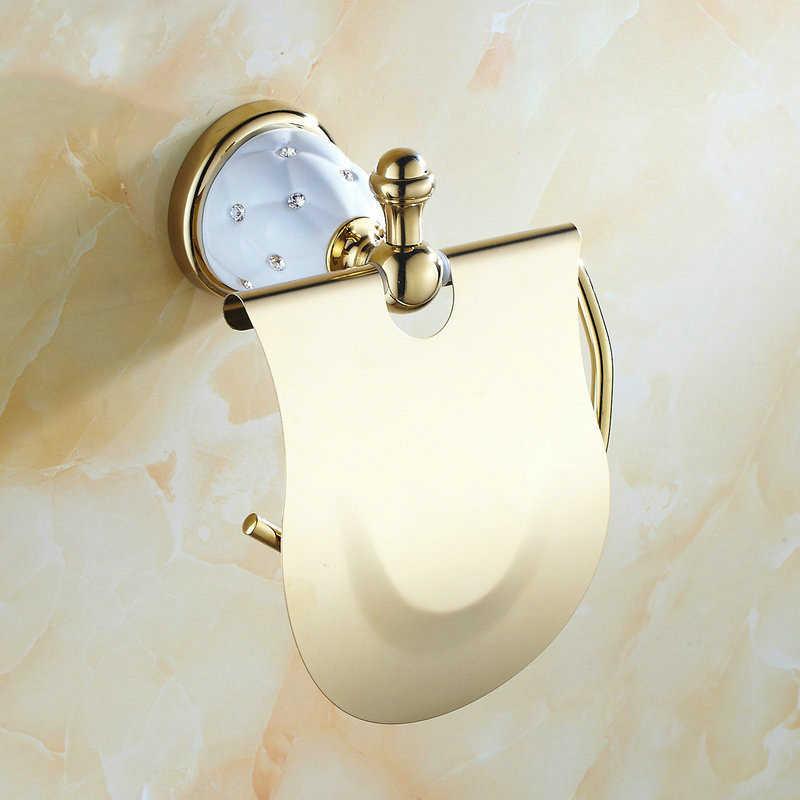63GD serii złoty polski mosiądzu i diament do montażu na ścianie zestawy akcesoriów łazienkowych wieszak na ręczniki wieszak na ręczniki półka na ręczniki hak uchwyt na papier