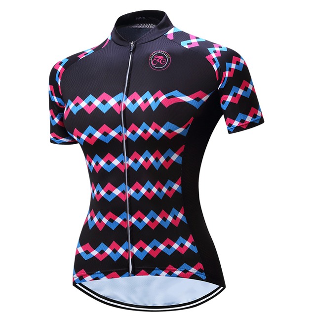 2c8832362 2017 TELEYI MTB Bike Jersey Women s Pro Cycling Clothing Clothes Short  Sleeve Bike Shirts Top Girls Wear Colorful bicycle wear