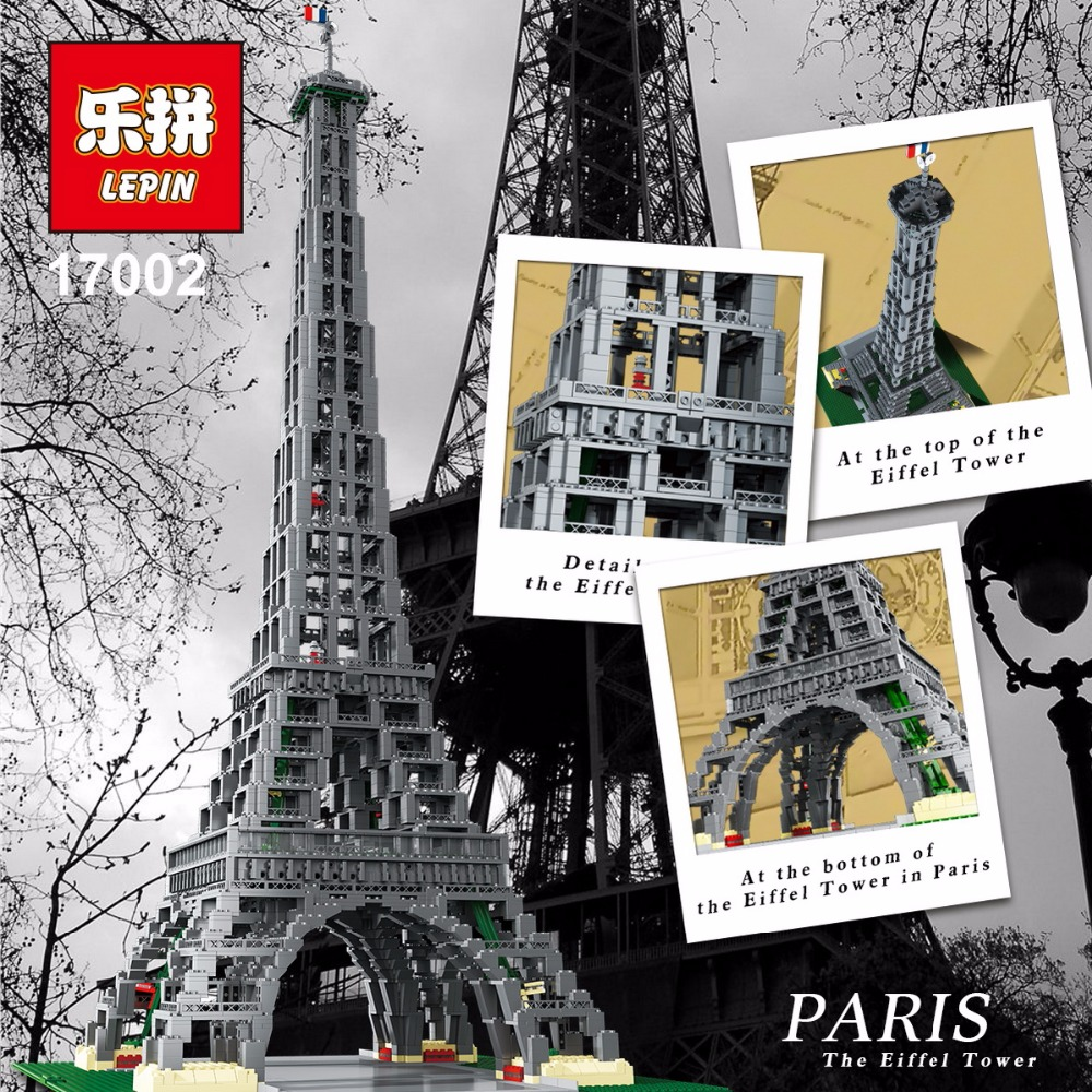 LEPIN 17002 City Street 3478pcs The Eiffel Tower Model Building Assembling Brick Toys Compatible 10181 birthday gifts toy gifts lepin 15018 3196pcs creator city series sunshine hotel model building kits brick toy compatible christmas gifts
