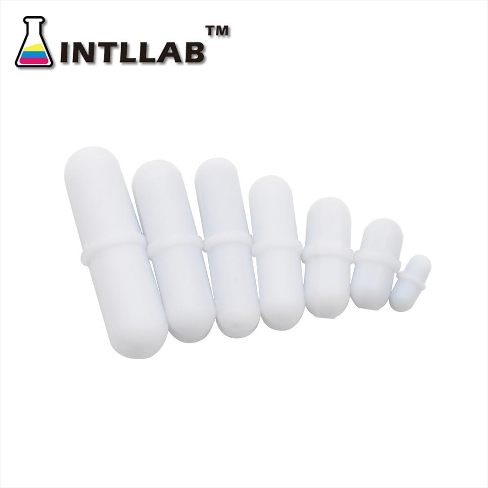 INTLLAB 7pcs Mixed Size PTFE Magnetic Stirrer Mixer Stir Bars