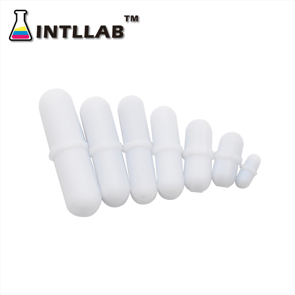 INTLLAB  Mixed Size Stir Bar PTFE Magnetic Stirrer Mixer Stir Bars 7pc