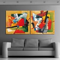 2017 Instrumentos Musicales Pintura Al Óleo Abstracta Moderna de la Lona Wall Art Mural Imagen for Living Room Bedroom home office Decor
