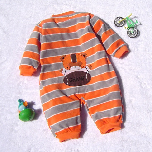 High Quality Fleece Body Baby Boy Romper Cartoon Kids Jumper Bebe Overall for Infants 2016 Fall Newborn Clothes Toddler Clothing