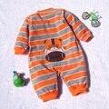 Lã de alta Qualidade Do Corpo Do Bebê Menino Romper Dos Desenhos Animados para Crianças Jumper Bebe Geral para Crianças Queda 2016 Recém-nascidos Roupa Roupas Da Criança