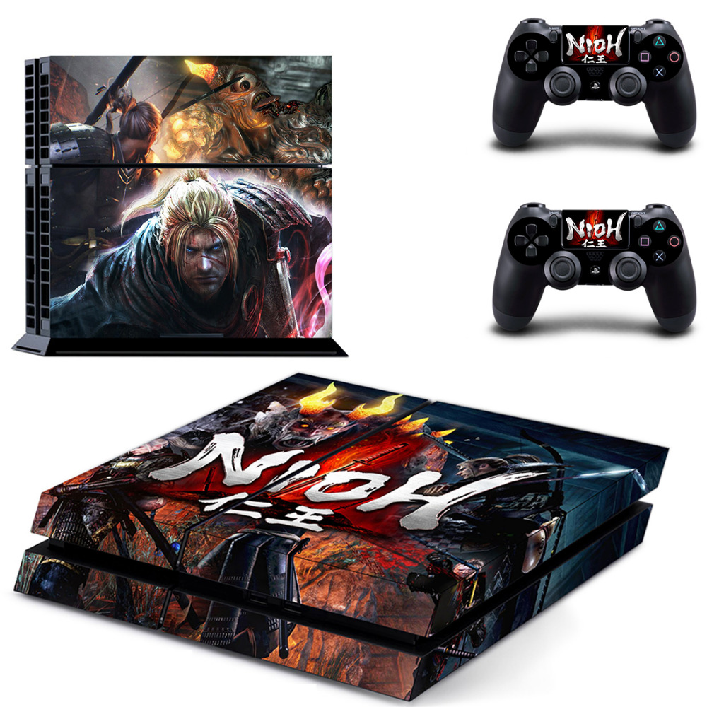 Game NIOH PS4 Skin Sticker Decal for Sony PlayStation 4 Console and 2 Controller Skin PS4 Sticker Vinyl Accessory