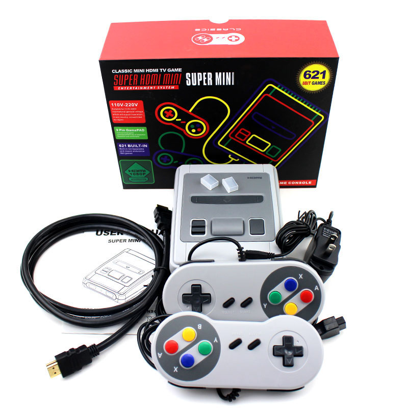 2019 HDMI / AV Out MINI Retro Classic handheld game player Family TV video game console Childhood Built-in 620 / 621 8 bit Games