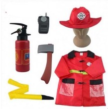 Gratis frakt Fireman Sam Kids Halloween Cosplay Kostym för Fancy Dress Girl Boy Halloween Party Cosplay