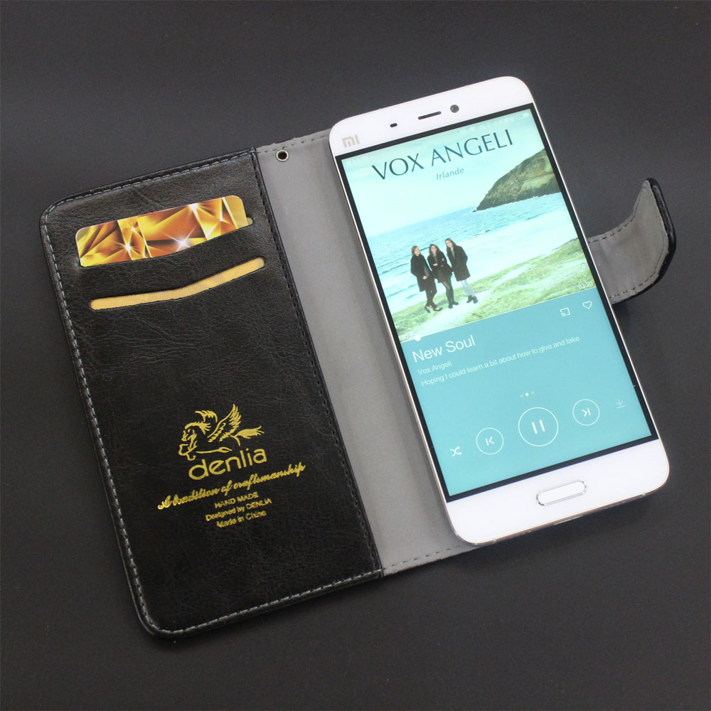 TOP New Archos 55b Platinum Case 5 Colors Flip Leather Case Exclusive Phone Cover Credit Card