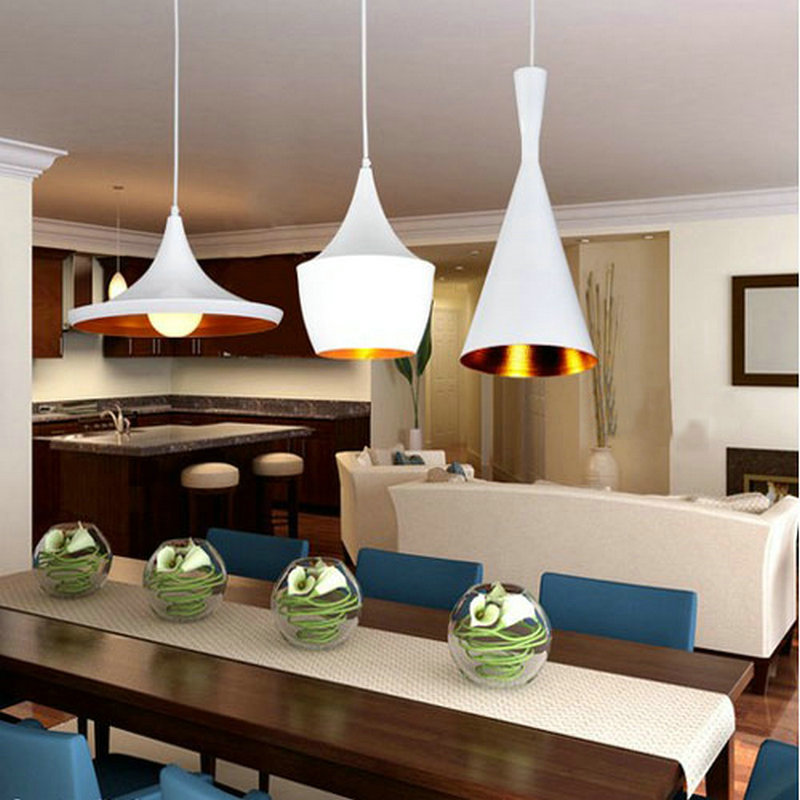 ФОТО Modern Black White Simple Aluminium FashionNovelty Pendant Lamp Design Children Bedroom Restaurant Decration shade Pendant Light