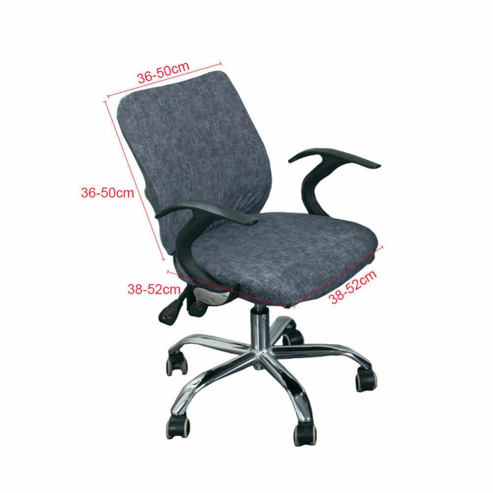 5 cores Trecho Moderna Cadeira Do Computador de Escritório Abrange Spandex Elástico Divisão Assento Tampa Anti poeira fácil Lavável Removível