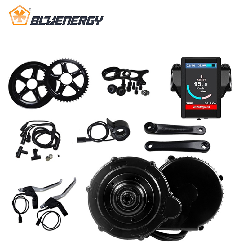 8fun bafang 36v 350w BBS01B Bicicle Electric Motor Kit For Center Motor Controller 36v Motor with C961 C965 850C DPC18 Display brushless side hung motor 36v 350w bafang 8fun bbs bbs01 bbs01b mid drive motor kit electric bicycle conversion kit w display