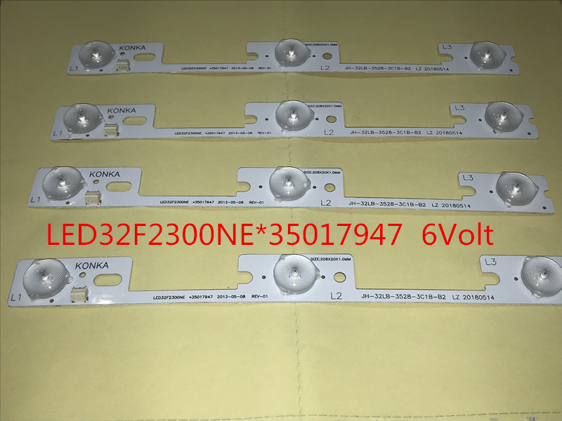 4PCS/LOT new and original for Konka LED32F2300NE light bar,35017947  backlight lamp LED strip 6v