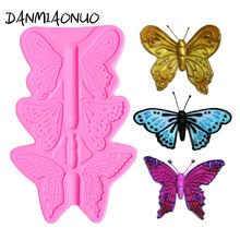 Bar Butterfly Cake Design Silicone Mold Fondant Jelly Pudding Tools Decoration Lace A1009