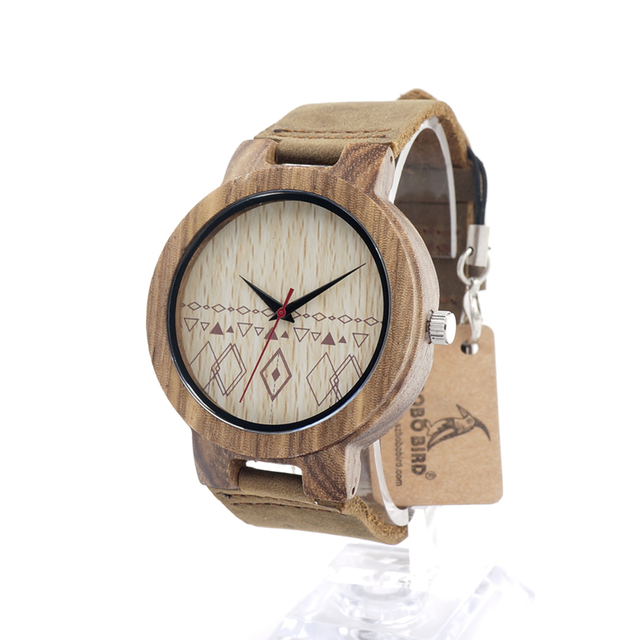 BOBOBIRD C19 Lovers' Retro Design Brand Luxury Zebra Wooden Wristwatches With Real Leather Band Quartz Watch in Gift Box Relogio