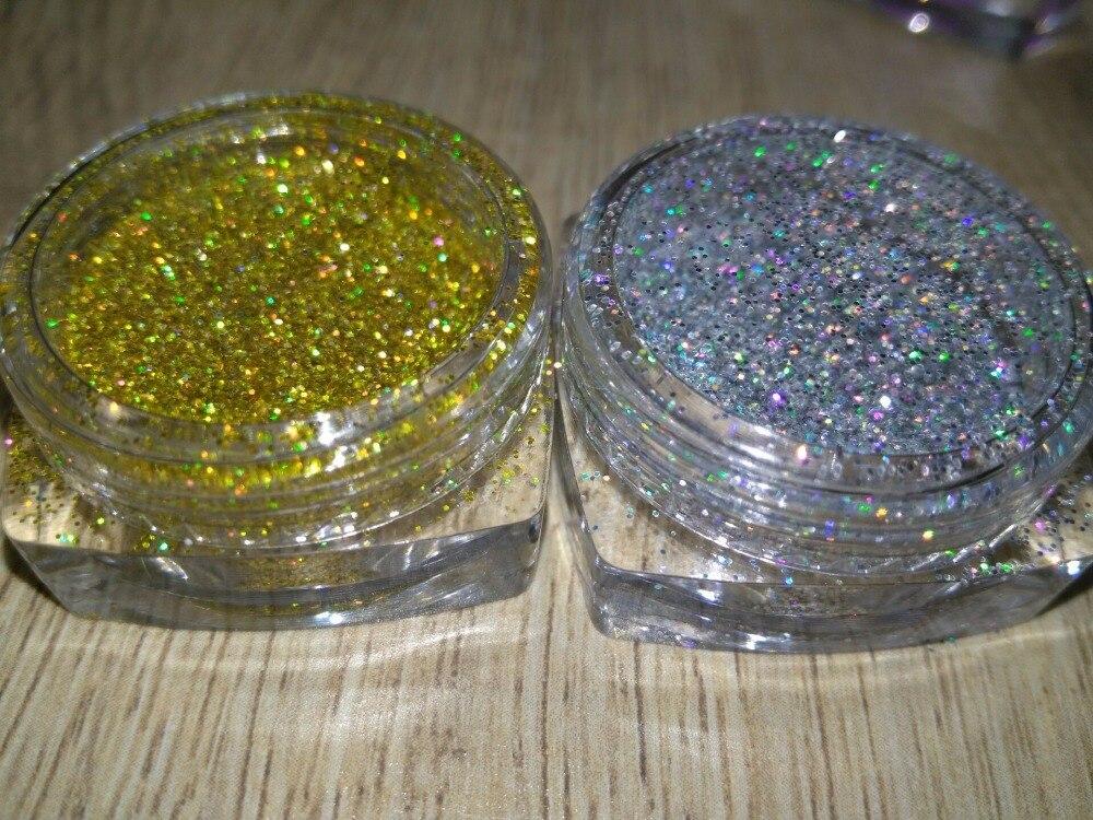 Schönheit & Gesundheit Regenbogen Gold Silber Farben Laser Holographische Farben 0,2 Mm Feinen Glitter Pulver Für Nagel Dekoration Und Andere Diy Zubehör 5g