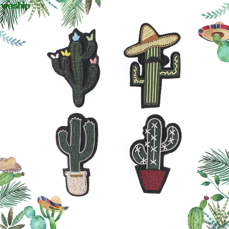 Arts,crafts & Sewing Diy New High Quality 3d Hand Embroidered Badges Cactus Flower Armband Applique For Coat Trousers Bag Brooch Home & Garden