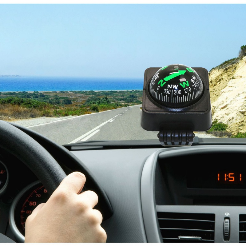 Dash Mount Compass Adjustable Navigation Hiking Direction Pointing Guide Ball Compass for Car Truck Boat