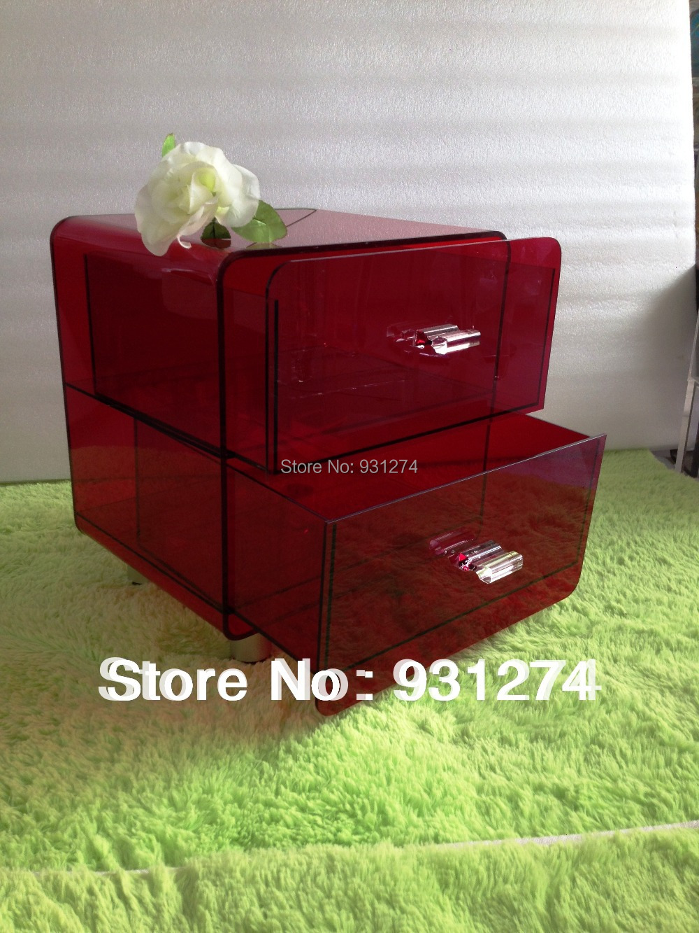 Free Shipping 2014 Drawer New Brand Fashion Acrylic night stand nightstands Bedroom beds ...