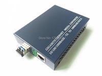 SFP 10/100/1000M Fiber Media Converter, Double fiber External PSU 20KM LC 1310NM