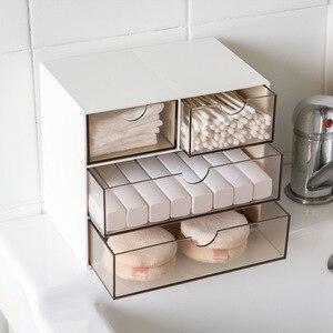 Креативная Экологичная настольная коробка для хранения ювелирных изделий, прозрачная пластиковая коробка для хранения, шкафы для небольши...