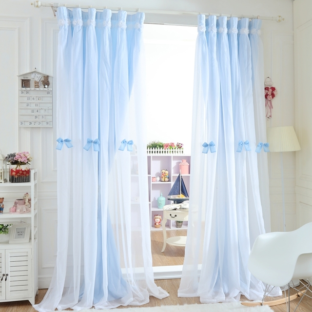 double layer curtains dining room senisaihon christmas blackout curtains lace embroidery tulle curtain double layer princess bedroom voile for living