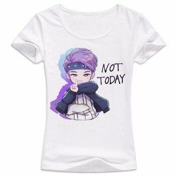 Female k pop Bangtan Boys T-shirt