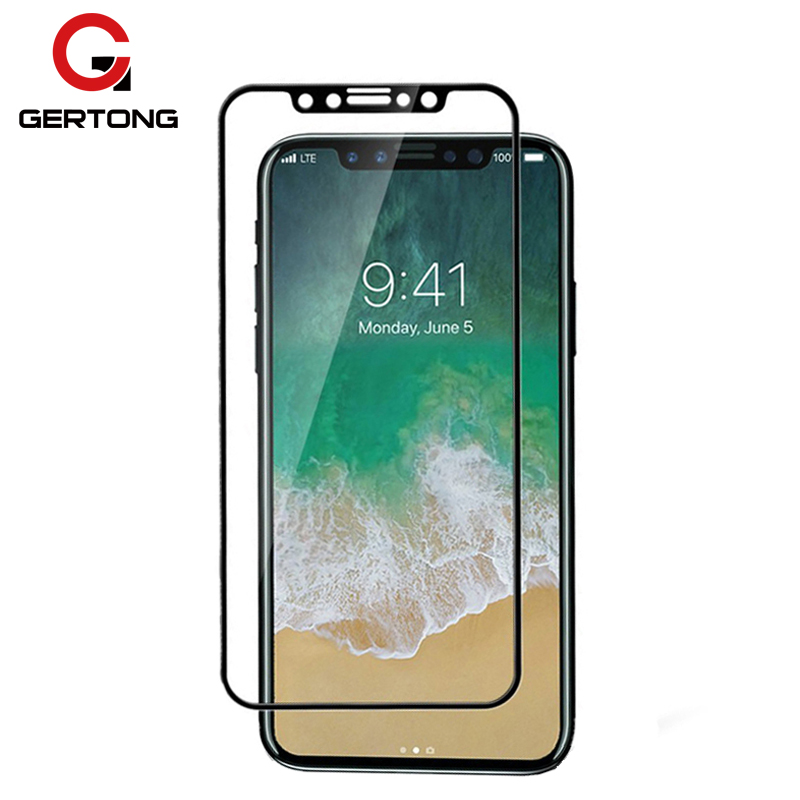GerTong Full Cover Tempered Glass για iPhone X 8 7 6 6S Plus 5 5S Screen Protector For iPhone X Toughened Protective Glass Film