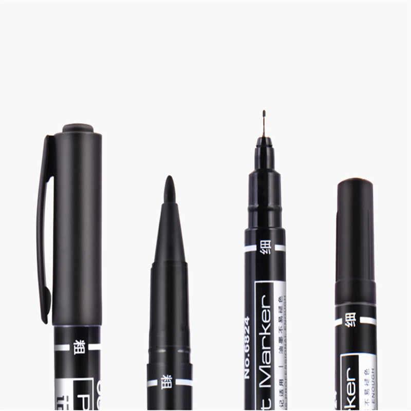 ขายส่ง 6824 สีกันน้ำถาวร Marker dual tip 0.5/1.0 มม.Nib Art drawing ปากกาสำนักงานโรงเรียนนักเรียนเครื่องเขียน
