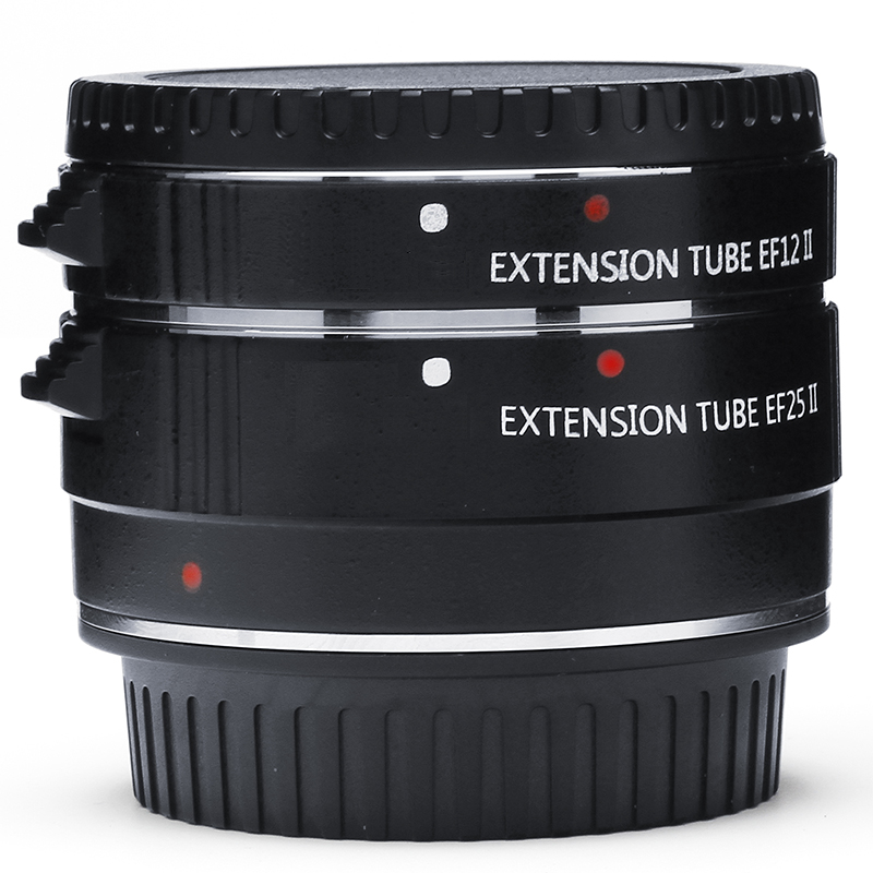 Auto Focus AF TTL Macro Tube d'extension anneau 12mm 25mm Set métal support avec couvercles pour Canon EF EF-S 35mm objectif 5D2 5D3 5D4 80D 7D