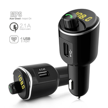FM transmitter car MP3 player USB charger U disk music player connects two mobile phones at the same time Bluetooth Car Kit стоимость