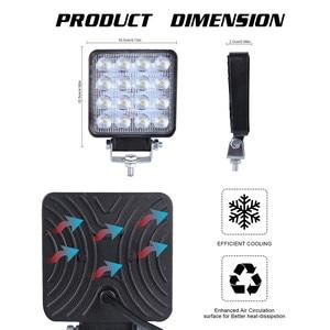 Image 5 - 2x LED مصابيح للسيارات LED ضوء العمل القرون 4 بوصة 160 واط مربع بقعة شعاع الطرق الوعرة عمود إنارة للقيادة Luces Led الفقرة السيارات