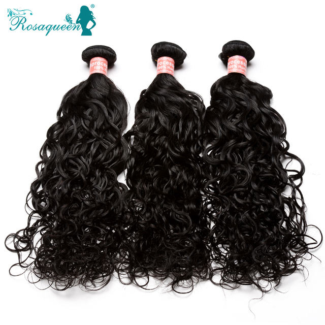 6A Peruvian Virgin Hair Water Wave 3Pcs/Lot Peruvian Water Wave Rosa Queen Hair Products Wet And Wavy Human Hair Extensions