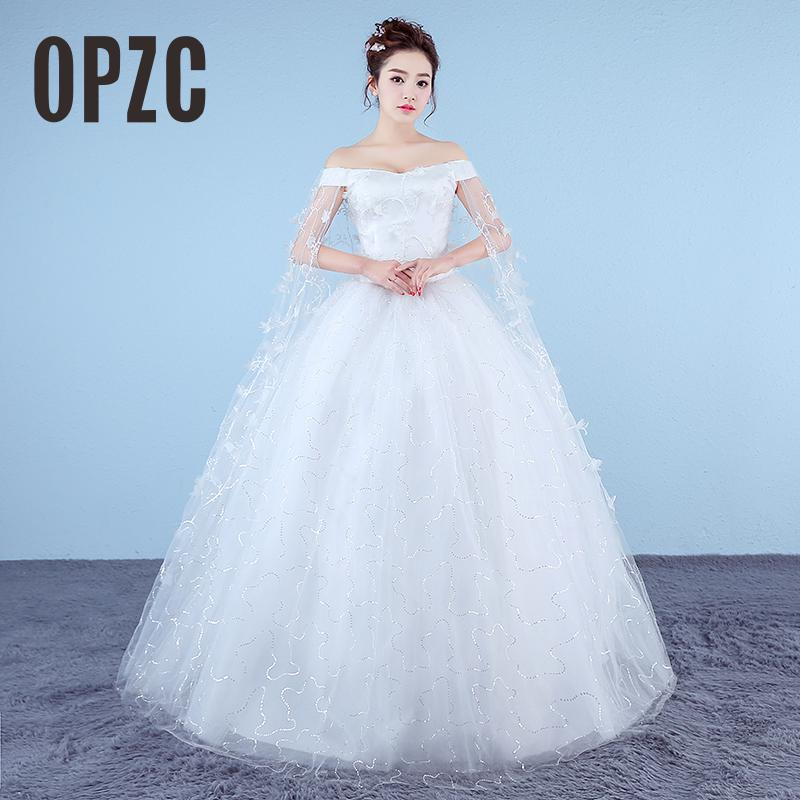 Cheap Fashion Real Photo Customizd Vestido De Noiva De 2017 Wedding Dress New Korean Plus Size White Princess Bride Ball Petal