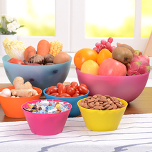 Household plastic bowl of salad vegetables Fresh Fruit plastic cups for party kitchen food container