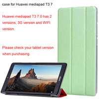 new style 5e155 4c0f7 Case cover For Huawei MediaPad T3 7 WIFI BG2-W09 Flip Cover For Huawei  MediaPad T3 7.0 3G BG2-U01 7'' tablet case
