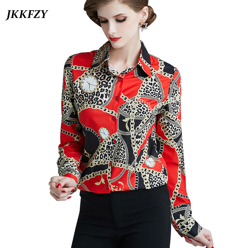 Women Elegant Runway Blouse 2019 New Fashion Casual Design Luxury Shirt Office Ladies Long Sleeve Work Tops Price $22.27