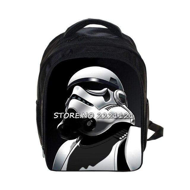 Фильм Star Wars рюкзак Штурмовик Студенты Школьные Сумки Мальчики Детей детский сад Мешок Дети Bookbag Лучший Подарок Рюкзак
