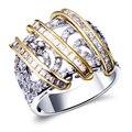 Аксессуары для ювелирных изделий класса люкс золотые кольца заполнены женщин дизайнер кольца Кристалл уникальные ювелирные изделия кольца