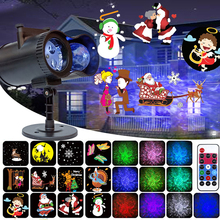 Waterproof Animated Christmas Projector Light With Remote Control 12 Slides Holiday Lighting For Wedding Halloween Garden Lawn все цены