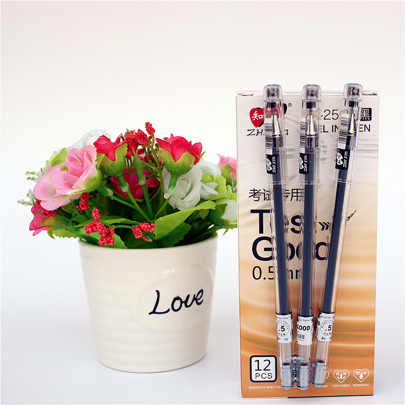 12PCS/lot writing smooth gel pen Large capacity ink office and school stationery pens supplies