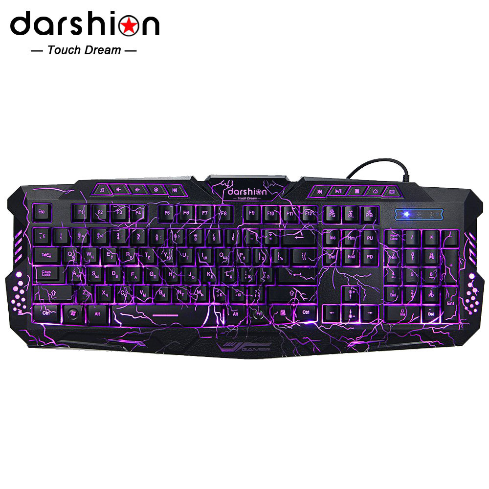 Russian keyboard Backlight LED Pro Gamins