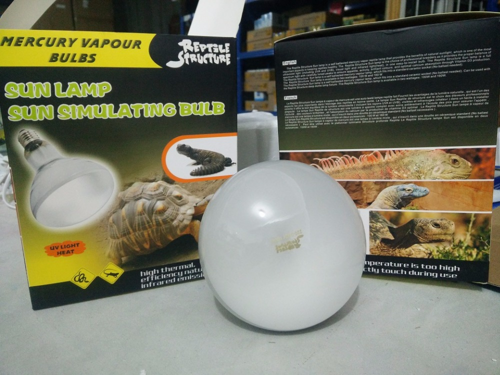 Reptile Uv Bulb Solar Glow High Intensity Uv Mercury Vapor