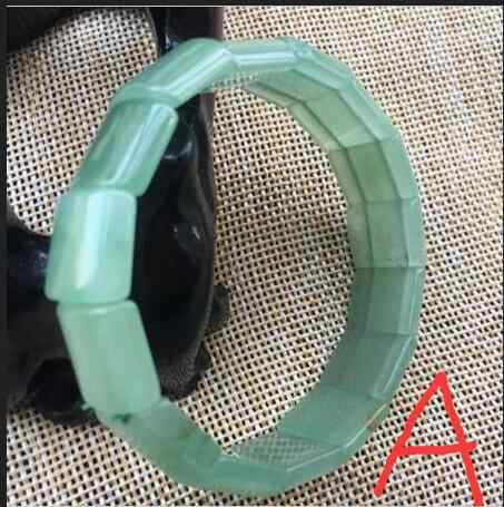 ธรรมชาติที่สวยงามสีเขียว dongling หยกกำไลข้อมือ hand made คริสตัลหินสามารถ choice (จาก A,B, c,D.E,F)