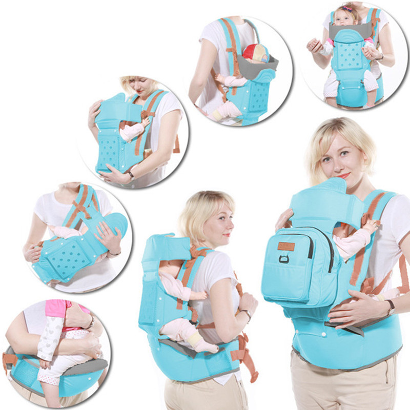 Baby Carrier 10 In 1 Multifunction Toddler Backpack Sling Kids Hip Seat Newborns Kangaroo Hipseat With Diaper Bag Loading 20kg|Backpacks & Carriers| |  - title=