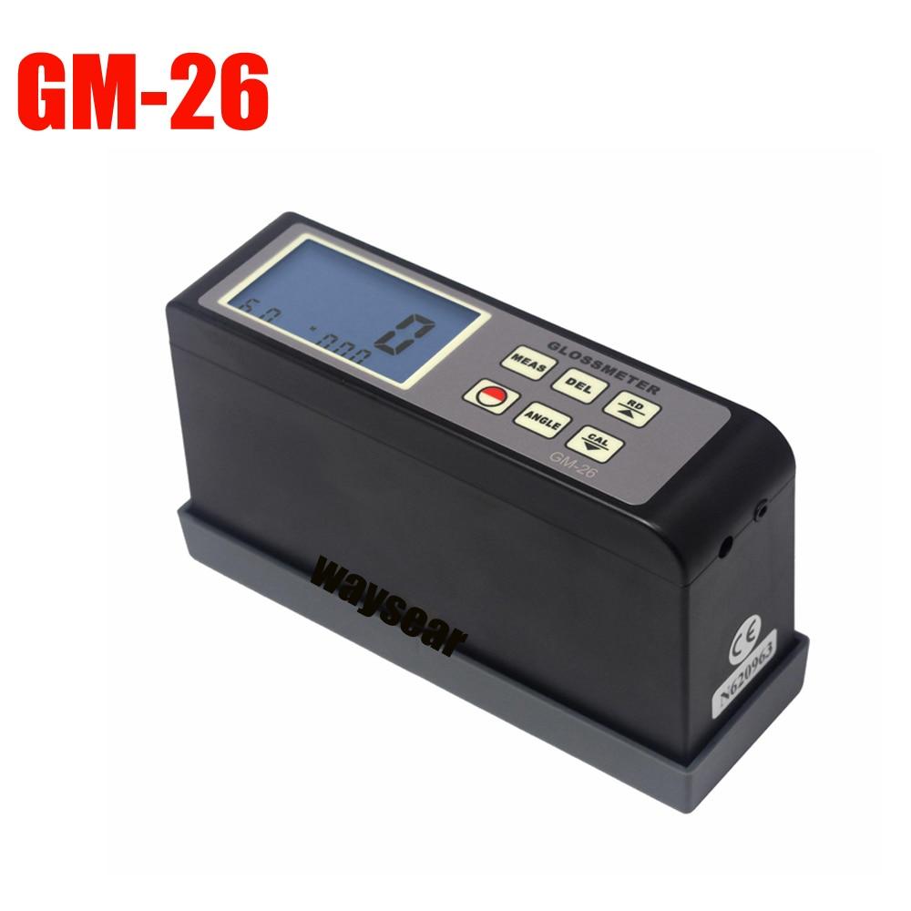 GM 26 Gloss Meter Range 0 1 200Gu 20 60 Multi Angle Gloss Meter Portable Digital