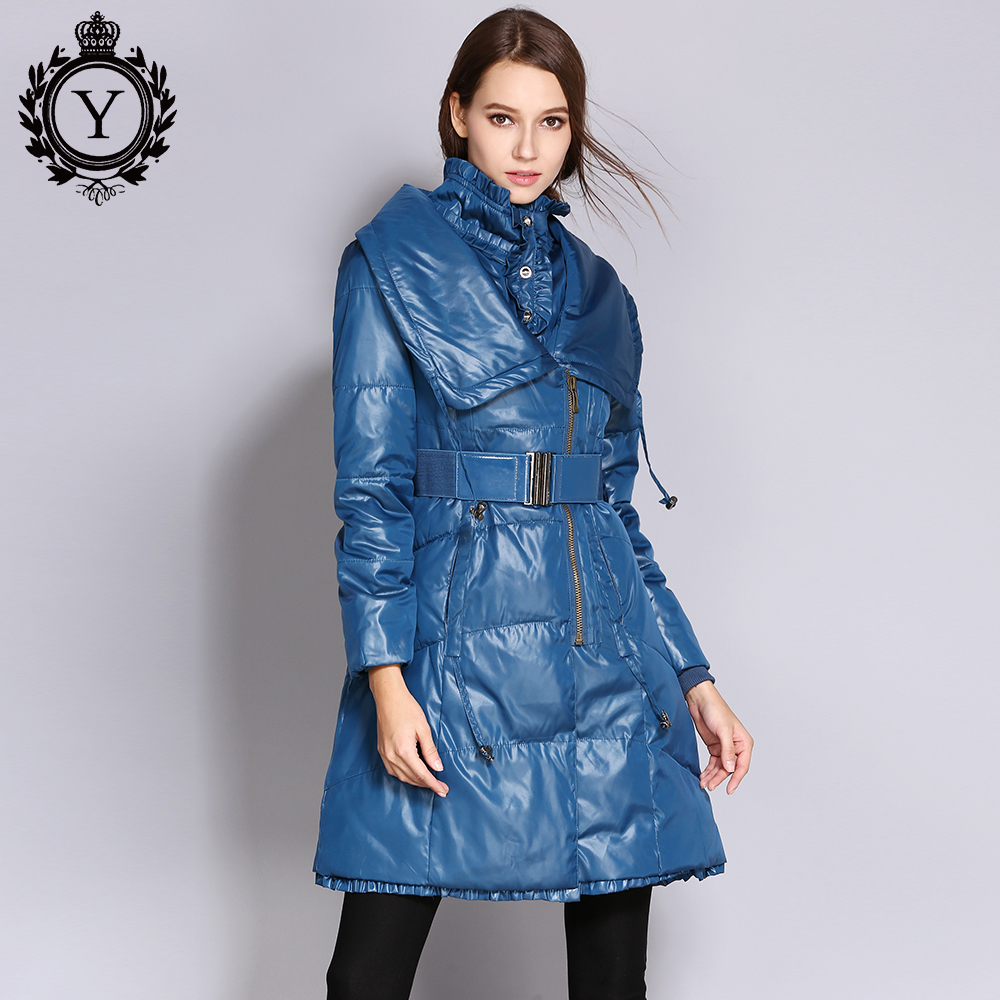 COUTUDI   Down   Jacket Winter Women Long   Down     Coat   Female Fashion Designed Plus Size Slim Warm Jackets and   Coats   Trench   Coat   Parka