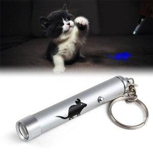 Image 2 - Забавная светодиодная Лазерная игрушка для домашних животных, Лазерная Игрушка для кошек, указка для кошек, световая ручка, Интерактивная игрушка с яркой анимационной мышью, тенью
