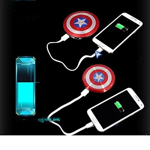 2016-Avengers-Captain-America-Shield-Power-Bank-Charger-USB-6800mAh-for-all-mobile-phone-with-Package (4)