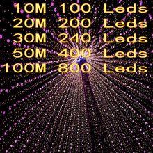 Außen String Lichter 5M 10M 20M 30M 50M 100M Led Girlande String Fairy Licht 8 modus Weihnachten Licht Urlaub Hochzeit Party