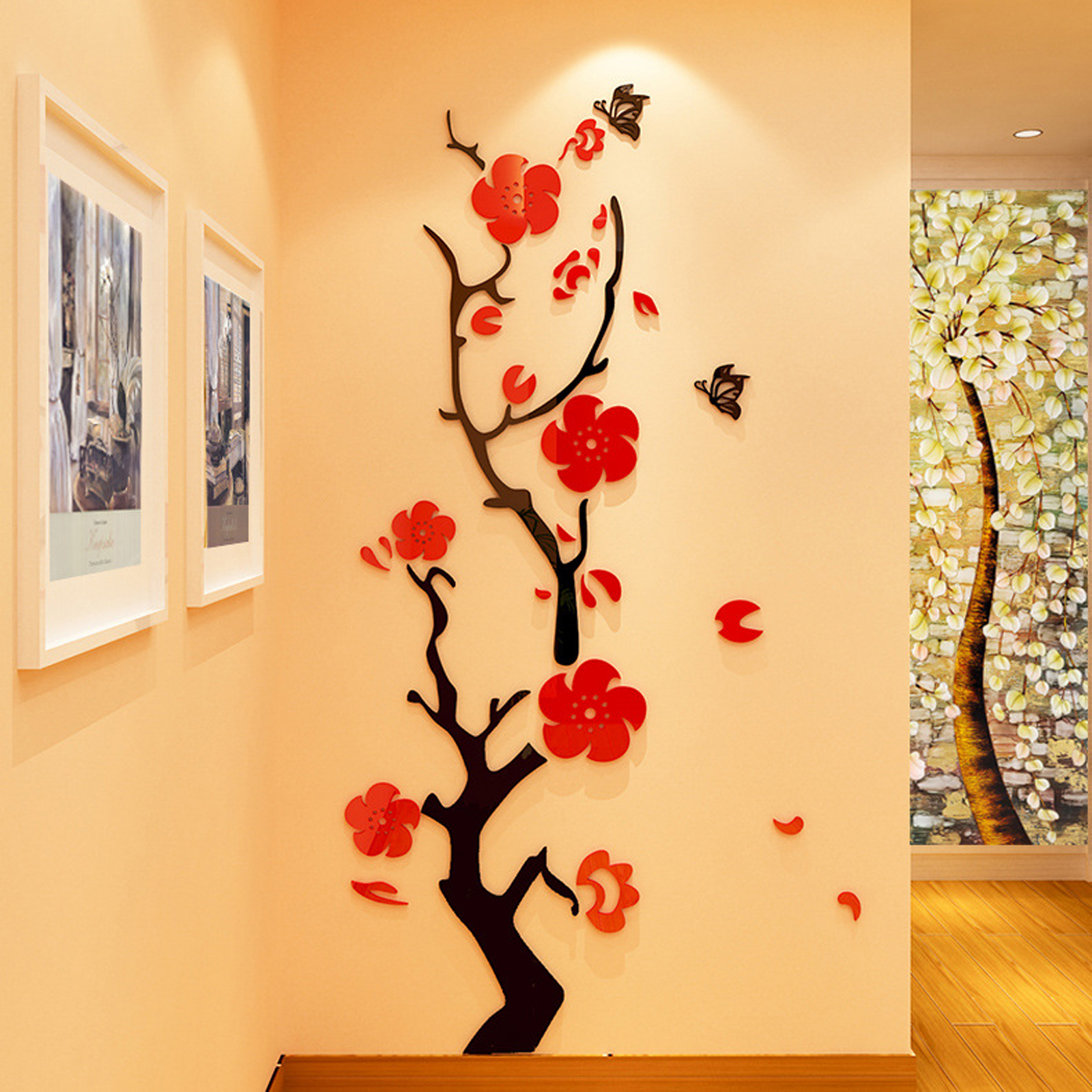 3D Removable Flowers tree Arcylic Wall Sticker Decal Home DIY Art ...